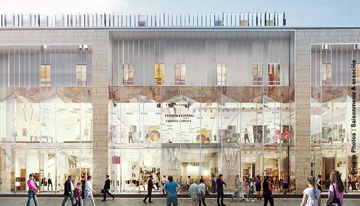 Rue de Bethune Lille Centre Ville Revolution Tournant Travaux Restructuration Zone 31 Galeries Lafayette Maquette