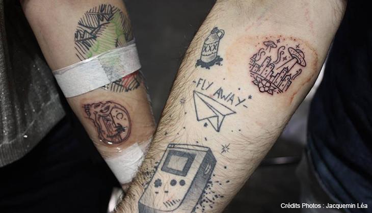 Lille Tattoo Convention 2018 tatouage couple salon janvier grand palais